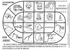 CARTILLA DE LECTURA INFANTIL digital: JUEGO DE LA OCA. LECTOESCRITURA INICIAL