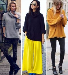 Fashion Solid Heaps Collar Pullover Sweater#The pullover sweater featuring solid chic. Heaps collar. Long sleeves. Loose fit. Knitted