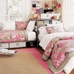 Bedroom Ideas For Teenage Girls Sharing A Room shared teen bedroom ideas | sharing bedrooms-decorating girls