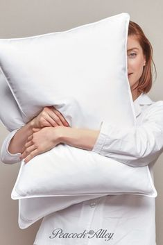 20 inches high x 36 inches wide. Constructed from responsibly sourced European white goose down fill. Finished in white. Sterilized using the Clean™ process. Each pillow comes with a removable 400 thread count cotton sateen pillow protector for washing. White Pillow Cases, White Pillows, Down Pillows, Bed Pillows, Ruffle Bedding, Linen Bedding, Bed Linen, Louis Xvi, Pillow Protectors