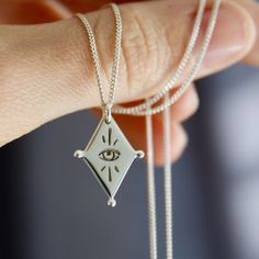 All Seeing Kite Necklace All Seeing Eye, Kite, Sterling Silver Chains, Arrow Necklace, Pendants, Handmade, Jewelry, Hand Made, Jewlery