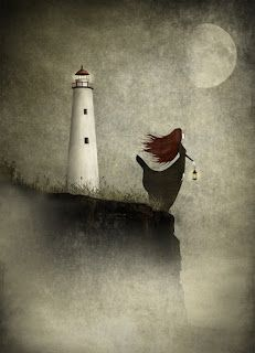 """The Lighthouse Widow"" Majali design & illustration"