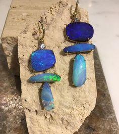Black opal earrings Fresh from Irene's studio to @barneysny #madisonavenue Ready for you!! @ireneneuwirth