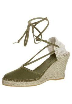 PYRENEES 9 - Sandaletter med kilklack - olivgrön