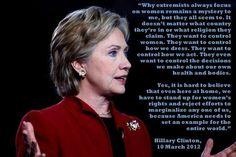 Hillary tells it like it is.