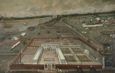 The Trading Post of the Dutch East India Company in Hooghly, Bengal, Hendrik van Schuylenburgh, 1665