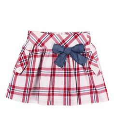 Red & White Plaid Skirt - Toddler & Girls #zulily #zulilyfinds