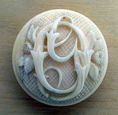 Carved Ivory Button
