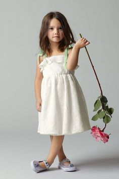 lovely, simple flower girl dress- perfect for an outdoor wedding