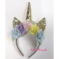 Unicorn Headband made by Belle Threads Order now at www.bellethreads.com
