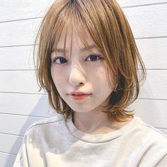 Medium Hair Styles, Short Hair Styles, Kawaii Faces, Cute Japanese, Look Younger, Asian Woman, Hair Inspiration, Hair Cuts, Hair Color