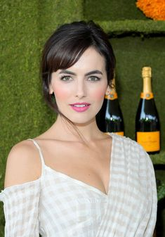 Camilla Belle Photos - Camilla Belle at the Eighth Annual Veuve Clicquot Polo Classic on October 2017 in Los Angeles, California. - Eighth-Annual Veuve Clicquot Polo Classic, Los Angeles Camila Belle, Belle Hairstyle, Actrices Sexy, Elegant Wedding Hair, Beautiful Lips, Beautiful Women, Brunette Beauty, Camilla, Beautiful Actresses