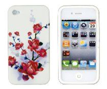 Red Flower Flexible Gel Case for #iPhone 4/4S