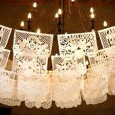 Mexican themed wedding @Angie Wimberly Mitchell. This was kinda what I was trying to explain the other day. Have NO idea where to find them, but it was just a thought ;)