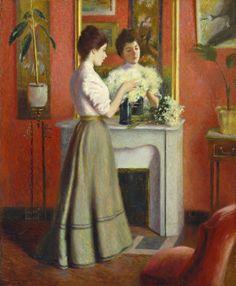 igormaglica:  Federico Zandomeneghi (1841-1917) Femme au miroir 1898.  oil on canvas 65 x 55 cm