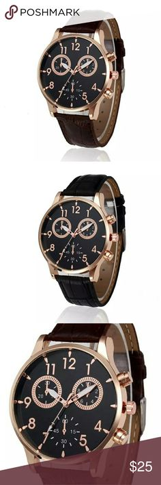 MENS CASUAL QUARTZ WATCH SHOCK RESISTANCE Feature:  100% brand new and high quality  Movement: Quartz  Materials: PU Leather + Alloy  Case Size: 35.5mm x 35.5mm  Case Thickness: 7mm  Band Width: 19m  Band Length: 22cm  1 BLACK BAND 1 BROWN BAND MALOOM Accessories Watches