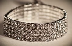 Silver Crystal 5 row gorgeous bracelet. Wear this to perfectly accent your Christmas or New Years outfit. www.yorkpromenade.com