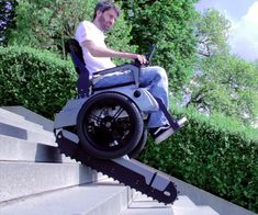 Check out this wheelchair that can climb stairs. http://technabob.com/blog/2015/06/18/scalevo-stair-climbing-wheelchair/?utm_content=buffer696af&utm_medium=social&utm_source=pinterest.com&utm_campaign=buffer  #technology   #wheelchair