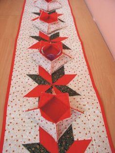 Patchworkový ubrus na stůl Vánoce