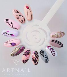 Botanical nail art arte uñas в 2019 г. nails, acrylic nails и gel nails. Diy Valentine's Nails, Nail Manicure, Cute Nails, My Nails, Shellac Nails, Acrylic Nails, Jasmine Nails, Nail Drawing, Floral Nail Art