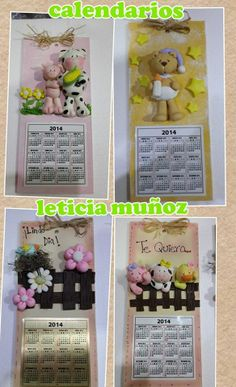 Calendars with polymer clay!  Neat idea.