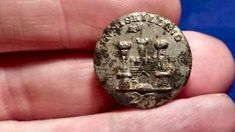 Dug inniskilling 27th regiment of foot enlisted soldier pewter button