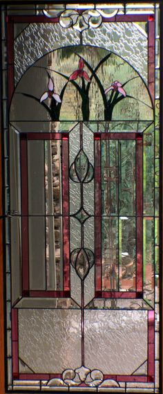 entry door with stained glass | Stained glass and custom glass work in Eagle, CO.