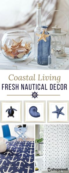 This collection of nautical decor is everything you need to create the perfect coastal living space. Hello, gorgeous beach cottage!