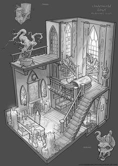 Feng Zhu Design: Old School RPG Room Designs: