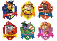 Throw a fun children's birthday party with these paw patrol party ideas! Cupcakes Paw Patrol, Paw Patrol Cups, Paw Patrol Cupcake Toppers, Puppy Patrol, Paw Patrol Cake Decorations, Personajes Paw Patrol, Imprimibles Paw Patrol, Paw Patrol Clipart, Paw Patrol Stickers