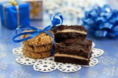 Creamed Cheese Brownies with Salted Dark Chocolate Topping