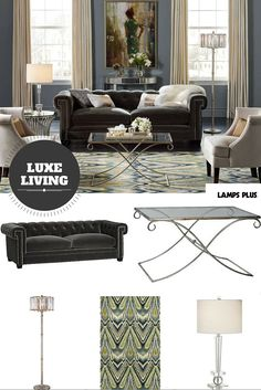 The look of luxe - opulent lighting and fine furnishings.