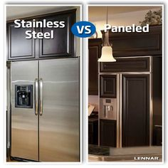 Stainless steel? or Paneled appliances to match your appliances?