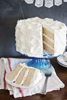 Chai Cake with Whipped Honey Frosting