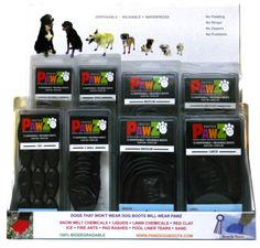 PAWZ Dog Boots - Dog Chic Boutique In Black & In Color $16.50 http://store.dogchicboutique.com/pawz-dog-boots