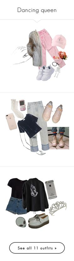 """""""Dancing queen"""" by martabiurrungarrido ❤ liked on Polyvore featuring Yves Saint Laurent, American Eagle Outfitters, Golden Goose, Louis Vuitton, Antipast, Toast, Pieces, Abercrombie & Fitch, TIARA and Mason by Michelle Mason"""