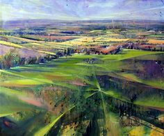 Sussex Weald II Acrylic on canvas 120 x 100cm 2013. Lorna Holdcroft.