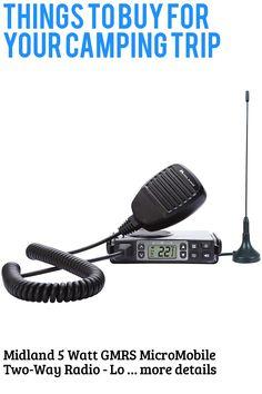 (This is an affiliate pin) Midland 5 Watt GMRS MicroMobile Two-Way Radio - Long Range Walkie Talkie, & 142 Privacy Codes, & NOAA Weather Scan + Alert (Black)