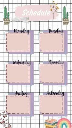 Study Schedule Template, Timetable Template, Schedule Design, Weekly Planner Template, Printable Planner, Printable Scrapbook Paper, Journal Template, Daily Planner Pages, Study Planner