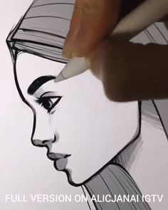 Amazing Pen Art - Art Tips - Handmade Everything Pencil Art Drawings, Art Drawings Sketches, Easy Drawings, Drawing Drawing, Drawing Ideas, Drawing Tips, Amazing Pencil Drawings, Side Face Drawing, Drawing Techniques Pencil