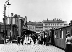 The older (former) Railway station of Helsinki - Helsingin vanha rautatieasema. Foto: Signe Brander, 1907.