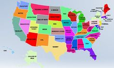 A bizarre new map has been created using Google Autocomplete to discover the most searched for good or service in each state capital.