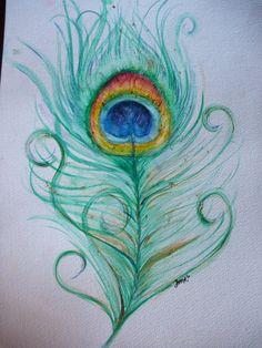 Peacock Feather by JorgeMA on DeviantArt Peacock Drawing, Feather Drawing, Feather Painting, Art Nouveau, Peacock Decor, Pen Art, Art Design, Painting & Drawing, Drawing Board