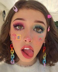 Punk, # - Make-up Cute Makeup Looks, Creative Makeup Looks, Pretty Makeup, Gorgeous Makeup, Makeup Inspo, Makeup Art, Makeup Inspiration, Hair Makeup, Makeup Ideas