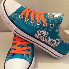Miami Dolphins Converse Style Sneakers - http://cutesportsfan.com/miami-dolphins-designed-sneakers/