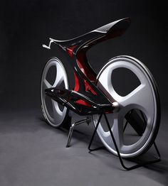 Zapfina Concept Bike was inspired by the condition of the shifted bones and skeleton of animals and also by the connection between bones and skeleton.
