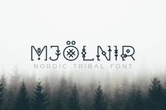 Introducing Mjölnir - a tribal font inspired by the nordic runes and the viking era.  This tribal font is meant to be used for headlines, titles, logos, posters, flyers, etc - anything that requires a unique geometric typeface with tribal motif.  The font has uppercase and lowercase characters, special glyphs and multilingual support. Mayan Symbols, Viking Symbols, Egyptian Symbols, Viking Runes, Ancient Symbols, Serif, Nordic Runes, Envato Elements, American Indian Tattoos