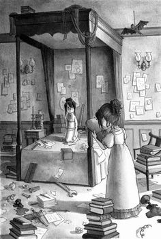 From: THE WOLLSTONECRAFT DETECTIVE AGENCY: THE CASE OF THE MISSING MOONSTONE by Jordan Stratford, illustrated by Kelly Murphy