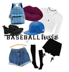 """walk with baseball hats"" by marinavasylieva ❤ liked on Polyvore featuring Tory Burch, WearAll, Chicnova Fashion, Winky Lux, Hue, MCM and Forever 21"