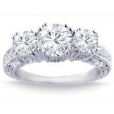 2.05 Carat Round Cut Diamond Engagement Ring